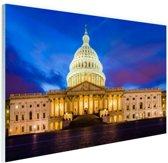 Facade Capitool Washington DC Glas 60x40 cm - Foto print op Glas (Plexiglas wanddecoratie)