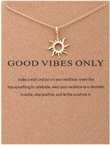 Wenskaart met ketting zon - sieraden wenskaart - geluksketting - verjaardagskaart - valentijnskaart