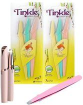 Tinkeke Premium Wenkbrauwen Scheermesjes - Haar mesje - Set - 9 Stuks -14.5x3.8cm - Dons Gezichtshaar Scheren   ®