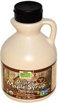Biologische ahorn siroop, klasse B, diepe rijke smaak (473 ml) - Now Foods