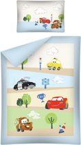 Cars BABY ledikant dekbedovertrek - 100 x 135 cm en 1 kussensloop - 100% katoen