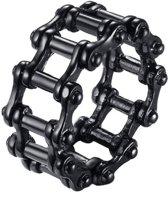Edelstaal heren ring Bike Chain black-19mm
