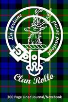 Clan Rollo 200 Page Lined Journal/Notebook