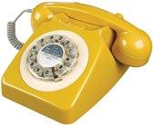 Retro telefoon Wild&Wolf 746 mosterdgeel