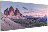 Panoramafoto Dolomieten Zuid-Tirol Aluminium 180x120 cm - Foto print op Aluminium (metaal wanddecoratie) XXL / Groot formaat!