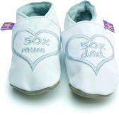 Starchild babyslofjes 50% mum and dad white silver Maat: 2XL (16,5 cm)
