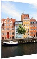 FotoCadeau.nl - Christianshavn Kopenhagen Aluminium 20x30 cm - Foto print op Aluminium (metaal wanddecoratie)