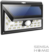 SensaHome solar lamp 24 led met bewegingssensor voor buitenverlichting | Slimme lamp | Energievriendelijk op zonne-energie | Buitenverlichting wandlamp met sensor en led