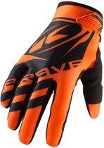 Kenny Kinder Crosshandschoenen Brave Neon Orange-4