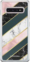 Samsung Galaxy s10 siliconen hoesje - Marble stripes