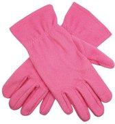 Roze fleece handschoenen M/l