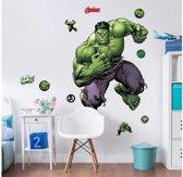 Muursticker groot Hulk 120 cm.