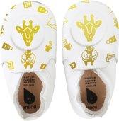 Bobux - Soft Soles - White giraffe loafer print - Babyslofjes - EU 18