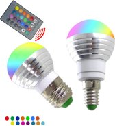 Led verlichting - RGB dimbare lamp - 16 kleuren - 5W/E14