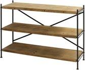 Light & Living Stellingkast VINTO 3 laags - metaal+hout