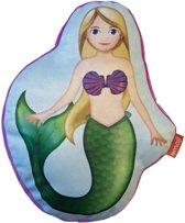Emoji Happy Mermaid - Sierkussen - 40 x 30 cm - Multi