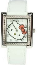 Hello Kitty Horloge Vierkant Wit