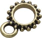 Tussenstuk 1 Oog (Binnenmaat 4.5 mm) Brons (10 Stuks)