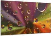 Canvas schilderij Druppels | Paars, Geel, Groen | 120x70cm 1Luik