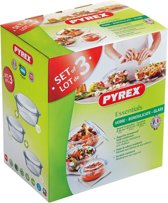 Pyrex Essentials Ovenschalenset - 2,3 l - 1,6 l - 1 l - set van 3