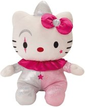 Jemini Pluchen Knuffel Hello Kitty Clown 15 Cm Roze/zilver