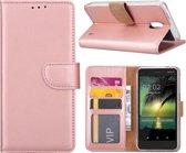Nokia 2 - Bookcase Rose Goud - portemonee hoesje