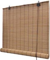 Rolgordijn 80x160 cm bamboe bruin