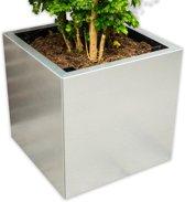 Yoepplanter Set Plantenbak  - 3x Innovatie: Koppelbare Verrijdbare en Wisselbaar Design - Grote Bloembak Bloempot Plantenpot - Binnen Buiten Tuin Balkon en Huiskamer - Groot 40x40x40 Vierkant Zink