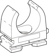 DONQ drukzadel OPDZ, kunstst, grijs, diam 15 - 16mm, 1 kabels/buizen