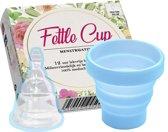 Fettle Cup - Herbruikbare Menstruatiecup | Invouwbaar | Gratis Sterilisator! - Blauw