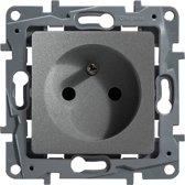 Legrand NILOÉ inbouw stopcontact - PENAARDE - enkelvoudig - aluminium