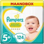 Pampers Premium Protection - Maat 5+ (Junior+) 13-25 kg - Maandbox 124 Stuks - Luiers