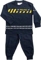 Fun2Wear Politie Pyjama schuine streep - navy - Maat 98