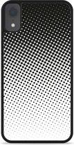 iPhone Xr Hardcase hoesje zwart witte cirkels