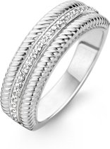TI SENTO Milano Ring 12081ZI - Maat 58 (18.50 mm) - Gerhodineerd Sterling Zilver