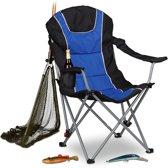 relaxdays - campingstoel opvouwbaar - klapstoel - vouwstoel - kampeerstoel blauw
