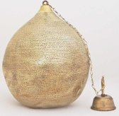 Nour Lifestyle Arabische hanglamp Uma goudkleurig met gaatjes - maat XL