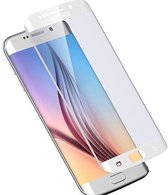 Samsung Galaxy S6 Edge  Curved / Gebogen Tempered Glass Screen Protector - Wit