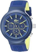 Lacoste horlogeband  2010797 / LC-61-1-29-2589 Rubber Blauw 16mm
