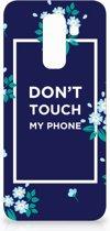 Samsung Galaxy A6 Plus (2018) TPU Hoesje Flowers Blue DTMP
