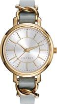 Esprit ES109342002 Horloge - Leer - Beige - Ø 34 mm