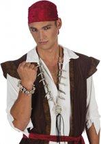 Halloween - Kannibalen/piraten armbandje schedels en botten