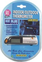 Indoor/Outdoor Car Thermometer Black/Grey