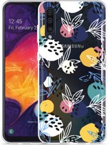 Galaxy A30s Hoesje Abstract Flowers