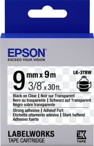 Epson Strong Adhesive Tape - LK-3TBW Strng adh Blk/Clear 9/9