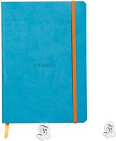 Rhodia Notebook Gelineerd Aqua softcover A5