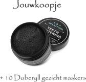 Tandenbleek activerende charcoal +10 Doberyll gezichtmaskers