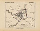 Historische kaart, plattegrond van gemeente Gouda in Zuid Holland uit 1867 door Kuyper van Kaartcadeau.com