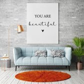You are beautiful canvas text