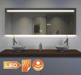 160 cm brede design badkamer spiegel met verlichting verwarming klokje en sensor